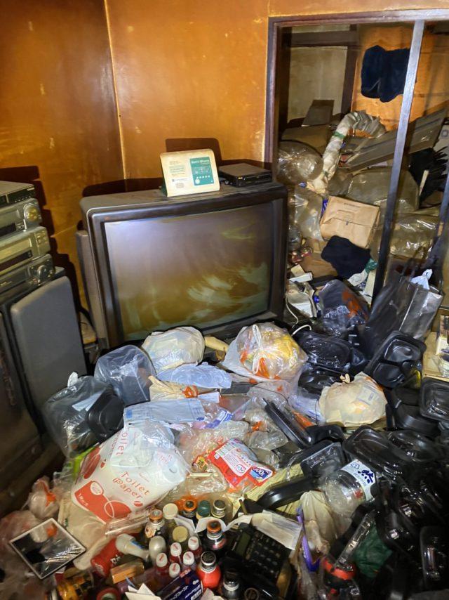 ゴミの分別と撤去